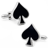 Spades Card Suit Cufflinks Novelty
