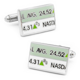 Stock Ticker Cufflinks Novelty
