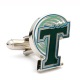 Tulane Green Wave Cufflinks Novelty