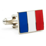 French Flag Cufflinks Novelty