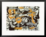 Yellow, Grey, Black Posters by Jackson Pollock