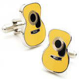 Guitar Cufflinks Novelty