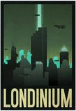 Londinium Retro Travel Poster Posters