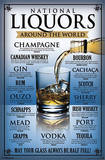 National Liquors Around the World Poster Print