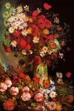 Vincent Van Gogh Vase with Poppies Cornflowers Peonies and Chrysanthemums Poster Posters by Vincent van Gogh