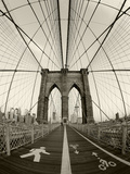 New York City, Manhattan, Brooklyn Bridge at Dawn, USA Reproduction sur métal par Gavin Hellier