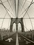 New York City, Manhattan, Brooklyn Bridge at Dawn, USA Alu-Dibond von Gavin Hellier