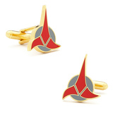 Star Trek Klingon Cufflinks Novelty