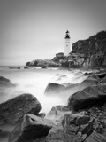 Maine, Portland, Portland Head Lighthouse, USA Metal Print by Alan Copson