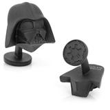 Star Wars 3-D Darth Vader Head Cufflinks Novelty