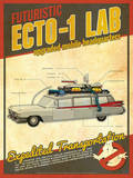 ECTO-1 Ghostbusters Tech Prints