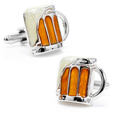 Mug of Beer Cufflinks Novelty
