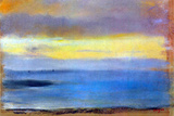 Edgar Degas Coastal Strip at Sunset Poster Posters by Edgar Degas