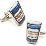 Greek Coffee Cufflinks Novelty