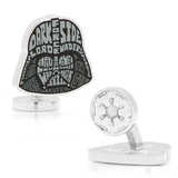Darth Vader Typography Cufflinks Novelty
