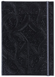 Christian Lacroix Papier Paseo Embossed Layflat Notebook with Elastic - BLACK Journal