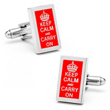 Keep Calm and Carry On Cufflinks Novelty