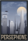 Persephone Retro Travel Poster Posters
