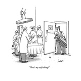 """How's my wife doing"" - New Yorker Cartoon Premium Giclee Print by Tom Cheney"