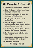 Beagle House Rules Prints