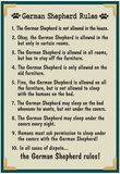 German Shepherd House Rules Prints