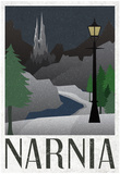 Narnia Retro Travel Poster Plakaty