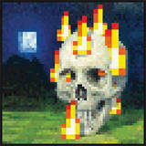 Minecraft - Burning Skull Posters