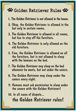 Golden Retreiver House Rules Poster