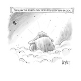 Then on the Eighth Day, God gets creator's block - New Yorker Cartoon Premium Giclee Print by Christopher Weyant