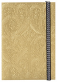 Christian Lacroix Papier Paseo Embossed Layflat Notebook with Elastic - GOLD Journal