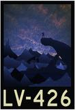 LV-426 Retro Travel Poster Billeder