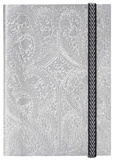 Christian Lacroix Papier Paseo Embossed Layflat Notebook with Elastic - SILVER Journal