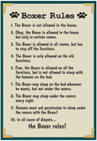Boxer House Rules Print