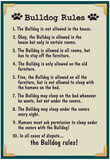 Bulldog House Rules Posters