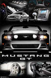 Ford Mustang - 2014 GT Collage Poster Kunstdruck