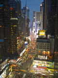 Broadway Looking Towards Times Square, Manhattan, New York City, USA Alu-Dibond von Alan Copson