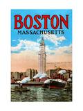 Boston Massachusetts Metal Print