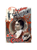 Harry Houdini: King of Cards Metal Print