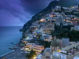 Positano, Amalfi Coast, Italy Metal Print by Walter Bibikow