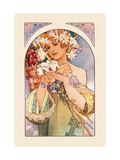 Flower Metal Print by Alphonse Mucha