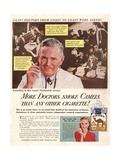 Camels, Cigarettes Smoking Medical, USA, 1946 Konst på metall