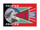 Lengiz, Books in all Branches of Knowledge Kunst auf Metall von Aleksandr Rodchenko