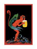 Biere au Diable Kunst på metal af Eugene Oge