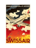 Zurich London Travel Poster Metal Print