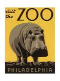 Besuchen Sie den Zoo in Philadelphia, Englisch Metalldrucke
