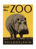 Reclameposter dierentuin, Visit the Philadelphia Zoo Kunst op metaal