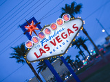 Nevada, Las Vegas, Welcome to Fabulous Las Vegas Sign, Defocussed, USA Metal Print by Walter Bibikow
