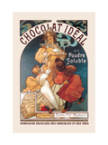 Chocolat Ideal Metalldrucke von Alphonse Mucha