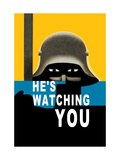 He's Watching You Metal Print