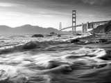 California, San Francisco, Golden Gate Bridge from Marshall Beach, USA Metal Print by Alan Copson